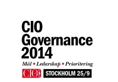 CIO Governance 2014 – Stockholm 25/9