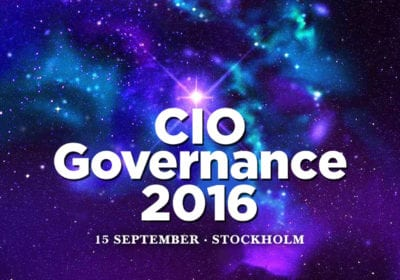 CIO Governance 2016 – 15 september, Stockholm
