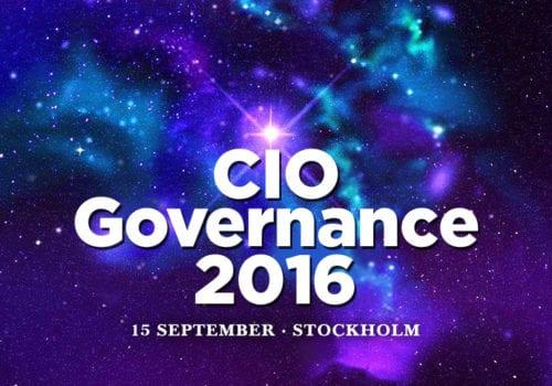 CIO Governance 2016 – 15 september, Stockholm